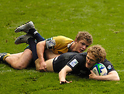 Twickenham, England.  Scotland score a try, during the AUS vs SCO match,  at the London Sevens Rugby, Twickenham Stadium, Sun, 27/05/2007 [Credit Peter Spurrier/ Intersport Images]