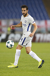 October 31, 2017 - Rome, Italy - Rome, Italy - 31/10/2017..Cesc Fabregas of Chelsea during the UEFA Champions League Group C soccer match against Roma at the Olympic stadium in Rome..UEFA Champions League Group C soccer match between AS Roma and Chelsea FC at the Olympic stadium in Rome. AS Roma defeating Chelsea FC 3-0. (Credit Image: © Giampiero Sposito/Pacific Press via ZUMA Wire)