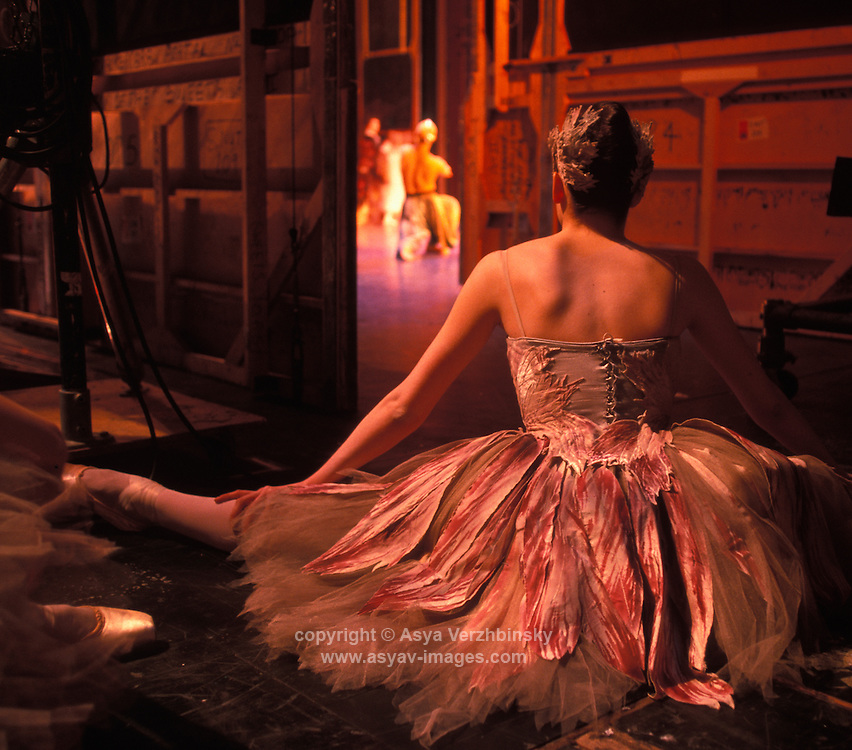 "Isabel MacMeekan backstage during Birmingham Royal Ballet's production of ""Nutcracker""."