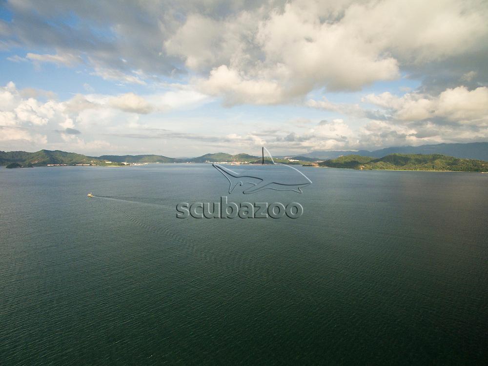 Arial of Kota Kinabalu bay, Borneo, Malaysia, South China Sea,