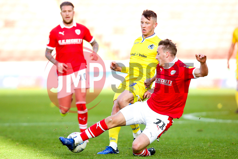 Ollie Clarke of Bristol Rovers takes on Mike-Steven Bahre of Barnsley - Mandatory by-line: Robbie Stephenson/JMP - 27/10/2018 - FOOTBALL - Oakwell Stadium - Barnsley, England - Barnsley v Bristol Rovers - Sky Bet League One