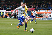 Bury On loan Defender, Cian Bolger during the Sky Bet League 1 match between Bury and Millwall at the JD Stadium, Bury, England on 23 April 2016. Photo by Mark Pollitt.