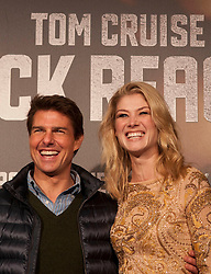 Tom Cruise with Rosemound Pike during the Premiere of the movie 'Jack Reacher', Callao Cinema. Madrid. Spain, December 13, 2012. Photo by Eduardo Dieguez / DyD Fotografos / i-Images...SPAIN OUT