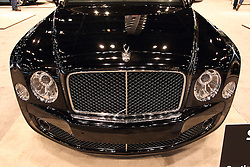 11 February 2016:  Bentley Mulsanne.<br /> <br /> First staged in 1901, the Chicago Auto Show is the largest auto show in North America and has been held more times than any other auto exposition on the continent.  It has been  presented by the Chicago Automobile Trade Association (CATA) since 1935.  It is held at McCormick Place, Chicago Illinois<br /> #CAS16