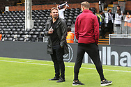 Norwich Head Coach Daniel Farke and Marcel Franke of Norwich before the Sky Bet Championship match at Craven Cottage, London<br /> Picture by Paul Chesterton/Focus Images Ltd +44 7904 640267<br /> 05/08/2017