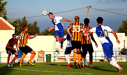 Jonathan Burn of Bristol Rovers heads the ball - Mandatory by-line: Robbie Stephenson/JMP - 18/07/2017 - FOOTBALL - Estadio da Nora - Albufeira,  - Hull City v Bristol Rovers - Pre-season friendly