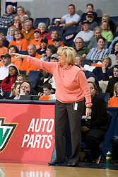 Virginia head coach Debbie Ryan during the Maryland game.  The Virginia Cavaliers women's basketball team fell to the #4 ranked Maryland Terrapins 74-62 at the John Paul Jones Arena in Charlottesville, VA on January 18, 2008.