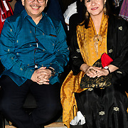 Dr Rizal Sukma is an Ambassador of the Republic of Indonesia and wife attend Indonesian Fashion Showcase - Jera at Fashion Scout London Fashion Week AW19 on 16 Feb 2019, at Freemasons' Hall, London, UK.