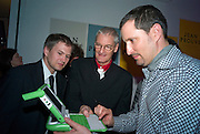 STEFAN MABACH, SIR JAMES DYSON AND TOMER ORN, Brit Insurance Design Awards. Design Museum. London. 18 March 2008.  *** Local Caption *** -DO NOT ARCHIVE-© Copyright Photograph by Dafydd Jones. 248 Clapham Rd. London SW9 0PZ. Tel 0207 820 0771. www.dafjones.com.