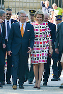 King Philippe and Queen Mathilde in the Royal Park on National Day
