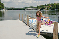 Boating on Lake Sunapee.  Karen Bobotas Photographer