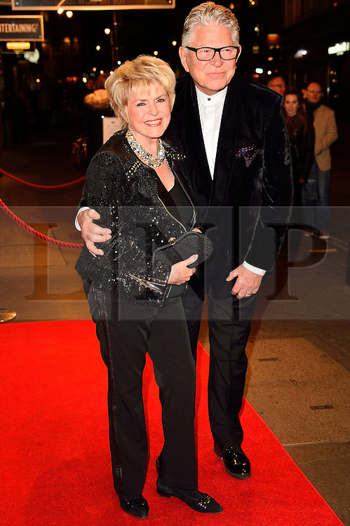 © Licensed to London News Pictures. 16/02/2016. GLORIA HUNNIFORD and STEPHEN WAY arrive for the press night of Mrs Henderson Presents press night at the Noel Coward Theatre. London, UK. Photo credit: Ray Tang/LNP