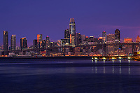 Downtown SF & Bay Bridge, Blue Hour Morning