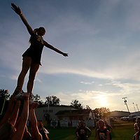 Thomas Wells | BUY at PHOTOS.DJOURNAL.COM<br /> Hallie Hobson, 16, practices her routine with the rest of the Ripley cheerleaders before their game against Corinth.
