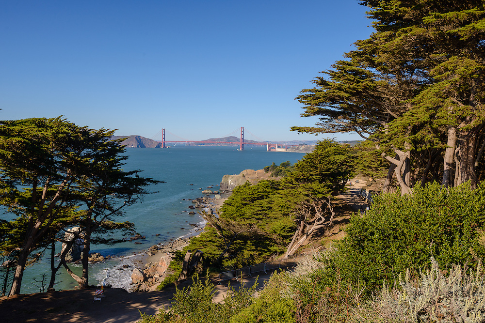 Lands End is a park in San Francisco within the Golden Gate National Recreation Area, California
