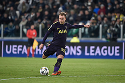 February 13, 2018 - Turin, Italy - Christian Eriksen of Tottenham during the UEFA Champions League Round of 16 match between Juventus and Tottenham Hotspur at the Juventus Stadium, Turin, Italy on 13 February 2018. (Credit Image: © Giuseppe Maffia/NurPhoto via ZUMA Press)