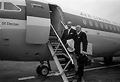 1967 - Taoiseach departs Dublin Airport for talks in Brussels