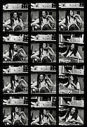 Contact Sheet of Bob Marley in His Tuff Gong studio