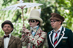 The Chap Olympiad 2014, Bedford Square. A celebration of Britain's sporting ineptitude, a gathering place for the most eccentrically dressed sportspeople. London UK