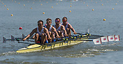 Plovdiv BULGARIA. 2017 FISA. Rowing World U23 Championships.  <br /> <br /> GBR BM4X. Bow.  LEASK, Harry, LAW, Rowan, GLENISTER, Harry and JOEL, Andrew<br />  Thursday AM. Heats 11:05:44  Thursday  20.07.17   <br /> <br /> [Mandatory Credit. Peter SPURRIER/Intersport Images].
