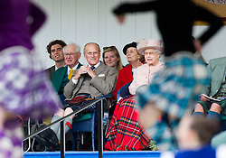 BRAEMAR - 07- SEPT - 2013: Members of Britain's Royal Family including Prince Charles and the Duke of Edinburgh, Prince Philip join HM The Queen at the annual Highland Gathering at the Braemar Highland Games in Scotland.<br /> Photo by Ian Jones