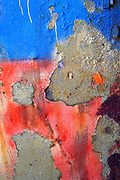 Abstract blue and red painted background