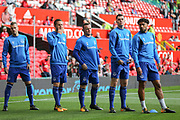 Everton striker Wayne Rooney (10) in warm up during the Premier League match between Manchester United and Everton at Old Trafford, Manchester, England on 17 September 2017. Photo by Phil Duncan.