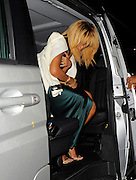 18.FEBRUARY. LONDON<br /> <br /> RIHANNA SUFFERS A PAINFULL MOMENT AS SHE ARRIVES AT THE STELLA MCCARTNEY 2012 LONDON FASHION WEEK SHOW/PARTY. AS SHE WAS EXITING HER MERCEDES VIANO THE SLIDING DOOR AUTOMATICALLY CLOSED ON HER HEAD.<br /> <br /> BYLINE: EDBIMAGEARCHIVE.COM<br /> <br /> *THIS IMAGE IS STRICTLY FOR UK NEWSPAPERS AND MAGAZINES ONLY*<br /> *FOR WORLD WIDE SALES AND WEB USE PLEASE CONTACT EDBIMAGEARCHIVE - 0208 954 5968*
