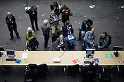 © Licensed to London News Pictures. 04/05/2012. Hammersmith, UK Counting in the London Mayoral Elections takes place in Olympia Exhibition Centre in Hammersmith London today 04 May 2012. Photo credit : Stephen Simpson/LNP