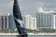 Puma with South Beach in the background during the 2011-2012 Volvo Ocean Race stopover in Miami.