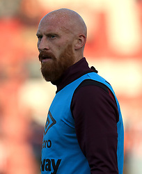 James Collins of West Ham United - Mandatory by-line: Paul Roberts/JMP - 23/08/2017 - FOOTBALL - LCI Rail Stadium - Cheltenham, England - Cheltenham Town v West Ham United - Carabao Cup