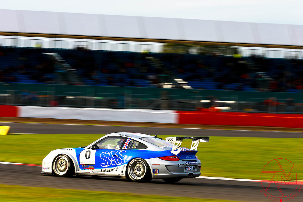 Porsche Carrera Cup GB 2012.ROUNDS 17&18.Silverstone, Northampton..Michael Meadows (GBR) Redline Racing.6th&7th October 2012.Images copyright Malcolm Griffiths.Contact:07768 230706.info@mgphoto.uk.com..www.malcolm.gb.net