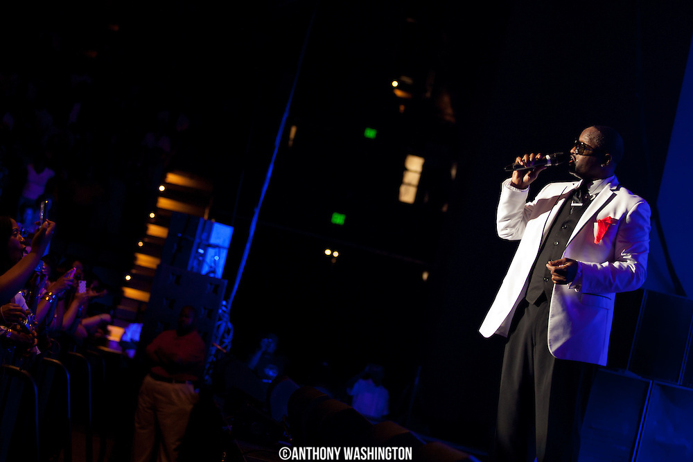 Johnny Gill of the group New Edition performs during the groups 30th Anniversary Reunion Tour at the 1st Mariner Arena in Baltimore, MD on Sunday, May 20, 2012.