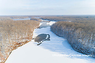 63877-01313 Aerial view after snowfall in winter Stephen A. Forbes St. Park Marion Co. IL