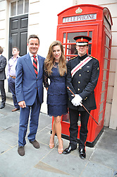 Left to right, BROCK BERGIUS, MISS AGNES STAMP and CAPT.ALEX OWEN at a street party to celebrate HM The Queen Elizabeth 11 Diamond Jubilee held in Motcomb Street, London on 30th May 2012.