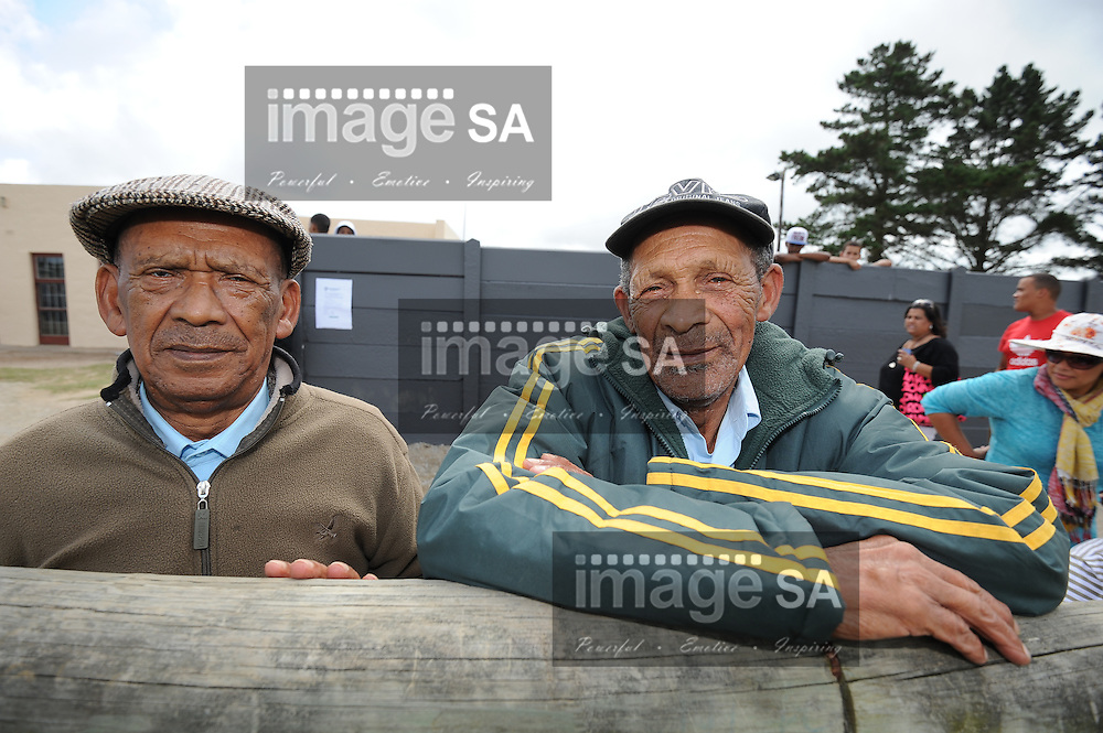 GEORGE, SOUTH AFRICA - Saturday 7 March 2015, John  (86) and David Fortuin (83), the oldest living Evergreens players during the third round match of the Cell C Community Cup between Pacaltsdorp Evergreens and Vaseline Wanderers at Pacaltsdorp Sports Grounds, George<br /> Photo by Roger Sedres/ImageSA/ SARU