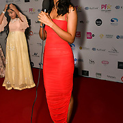 Sonam Bajwa is a actress attend the BritAsiaTV Presents Kuflink Punjabi Film Awards 2019 at Grosvenor House, Park Lane, London,United Kingdom. 30 March 2019