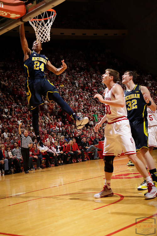 Michigan guard/forward Aubrey Dawkins (24) as Michigan played Indiana in an NCCA college basketball game in Bloomington, Ind., Sunday, Feb. 8, 2015. (AJ Mast / Photo))