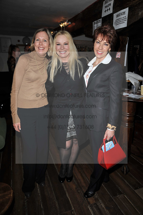 Left to right, JULIET HERD, PAMELA STEPHENSON and KATHY LETTE at the gala night party of Losing It staring Ruby Wax held at he Menier Chocolate Factory, 51-53 Southwark Street, London SE1 on 23rd February 2011.