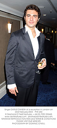 Singer DARIUS DANESH at a reception in London on 23rd February 2003.<br />