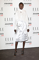 Alek Wek, ELLE Style Awards 2016, Millbank London UK, 23 February 2016, Photo by Richard Goldschmidt