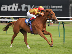 Golden Stunner ridden by F. M. Berry wins the 5.05 The Ladies Night on Saturday 2nd July Maiden Fillies' Stakes - Mandatory by-line: Jack Phillips/JMP - 22/05/2016 - HORSE RACING - Nottingham Racecourse - Nottingham, England - The Nottingham Post Community Day In Association With MacMillan