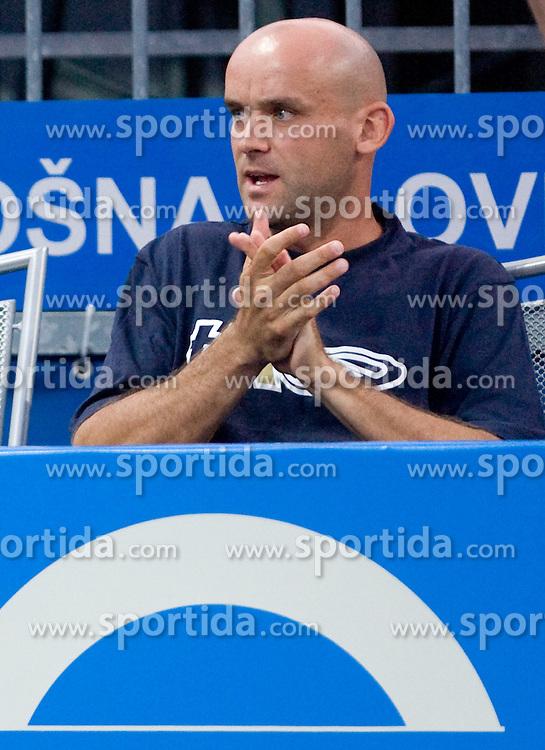 Marko Tkalec as coach of Masa Zec Peskiric of Slovenia at 1st Round of Banka Koper Slovenia Open WTA Tour tennis tournament, on July 20 2009, in Portoroz / Portorose, Slovenia. (Photo by Vid Ponikvar / Sportida)