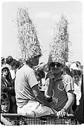 2 men at Chantilly in hats, 1991, France, Chantill© Copyright Photograph by Dafydd Jones 66 Stockwell Park Rd. London SW9 0DA Tel 020 7733 0108 www.dafjones.com