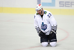 28.08.2015, Dom Sportova, Zagreb, CRO, KHL League, KHL Medvescak vs Admiral Vladivostok, 2. Runde, im Bild Pascal Pelletier. // during the Kontinental Hockey League, 2nd round match between KHL Medvescak and Admiral Vladivostok at the Dom Sportova in Zagreb, Croatia on 2015/08/28. EXPA Pictures © 2015, PhotoCredit: EXPA/ Pixsell/ Goran Jakus<br /> <br /> *****ATTENTION - for AUT, SLO, SUI, SWE, ITA, FRA only*****