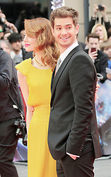 © Licensed to London News Pictures. 10/04/2014, UK. Avi Emma Stone; Andrew Garfield, The Amazing Spider-Man 2 - World film premiere, Odeon Leicester Square, London UK, 10 April 2014. Photo credit : Richard Goldschmidt/Piqtured/LNP