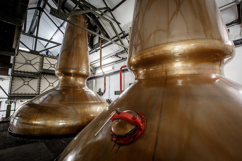 The stills at Ardbeg Distillery in Port Ellen, Isle of Islay, Scotland, July 15, 2015. Gary He/DRAMBOX MEDIA LIBRARY