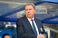 Queens Park Rangers manager Harry Redknapp in the dugout before k/o. Barclays Premier league match, Queens Park Rangers v Leicester city at Loftus Road in London on Saturday 29th November 2014.<br /> pic by John Patrick Fletcher, Andrew Orchard sports photography.