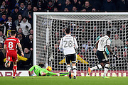 Derby County forward Darren Bent (11) scores to make it 1-3 during the EFL Sky Bet Championship match between Derby County and Bristol City at the Pride Park, Derby, England on 11 February 2017. Photo by Jon Hobley.