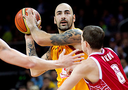 Pero Antic of Macedonia during basketball game between National basketball teams of F.Y.R. of Macedonia and Russia of 3rd place game of FIBA Europe Eurobasket Lithuania 2011, on September 18, 2011, in Arena Zalgirio, Kaunas, Lithuania. (Photo by Vid Ponikvar / Sportida)